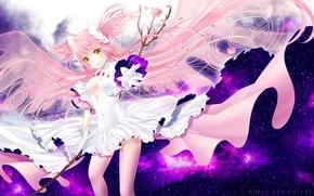 Picture anime, dress, art, girl, mahou shoujo madoka magica
