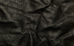Picture cracked, background, texture, leather, black, folds