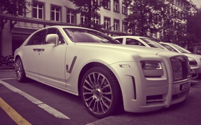 Picture white, Rolls Royce, Ghost