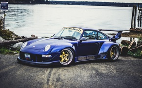 Picture (993), GT2, 911, Porsche, Blue, Dark