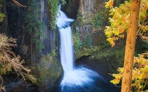 Picture nature, rocks, waterfall, Autumn, nature, autumn, waterfall