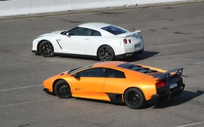 Picture Lamborghini, Nissan, GT-R, Murcielago, Supercar, Supercars, SV LP670-4