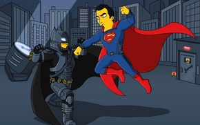 Picture cinema, battlefield, Batman, man, cartoon, fight, movie, bat, Superman, hero, film, The Simpsons, Clark Kent, …