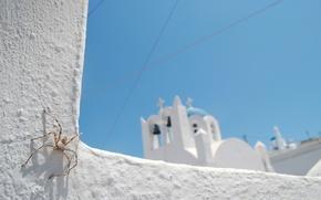 Wallpaper white, blue, the sky, Church, spider