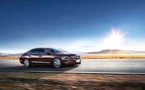 Picture The sky, Auto, Road, Buick, LaCrosse, 2016, Metallic