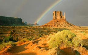 Picture the sky, rocks, desert, rainbow, canyon