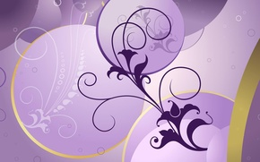 Picture flower, background, lilac, pattern, curls