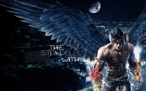 Picture Wallpaper, the game, the devil, fighter, game, gin, devil, wallpapers, fight, tekken7, jin, теккен7