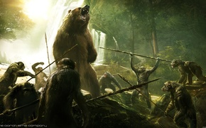 Picture bear, hunting, Planet of the apes: the Revolution, Dawn of the Planet of the Apes