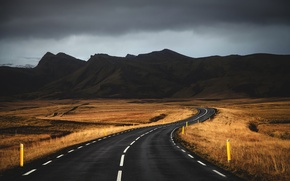 Picture road, clouds, mountains, road, mountains, clouds