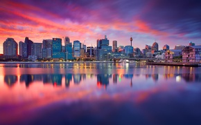 Picture the city, river, dawn, building, home, Sydney