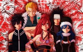 Picture girls, guys, anime, art, fairy tail, ezra scarlet, gray fullbuster, gajeel redfox, juvia loxar, laxus …