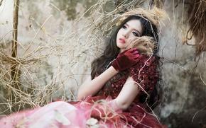 Picture girl, Asian, Mitu Kat