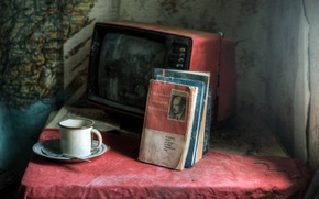 Wallpaper tragedy, books, life, USSR, past, prison of Nations, TV