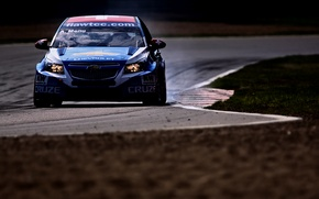 Picture background, Wallpaper, track, Chevrolet, race, car, Cruze, WTCC, world touring, Alain Menu