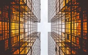 Wallpaper building, geometry, view, parallel