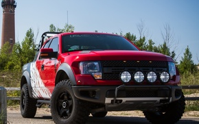 Picture machine, Ford, the front, F-150, powerful, SVT Raptor, Roush