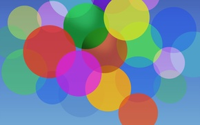 Picture color, circles, Abstraction, Nubia UI
