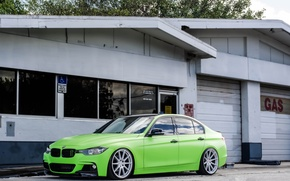 Picture Green, BMW, Tuning, Matte Green, F30, BMW, 330d