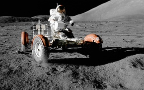 Picture space, Wallpaper, the moon, astronaut, nasa, lunar vehicle