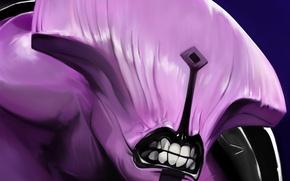 Picture lilac, teeth, art, Dota 2, Faceless Void, Dark terror, SCoTTT