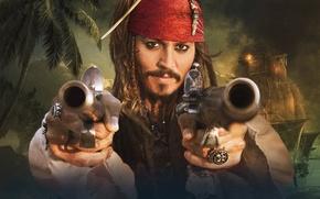 Wallpaper Pirates of the Caribbean, Strange, Sparrow, the banks, Jack