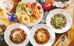 Picture kettle, vegetables, meals, potatoes, cuts, pasta