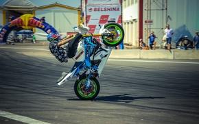 Picture helmet, moto, tricks, PItBike