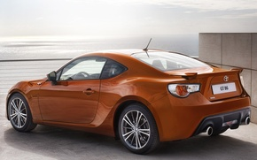 Picture the sky, coupe, sports car, rear view, toyota, Toyota, gt 86, hachiroku, GT 86, Hachiroku