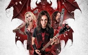 Picture music, cinema, demon, blood, guitar, rocker, long hair, woman, wings, man, movie, hair, death, blonde, …