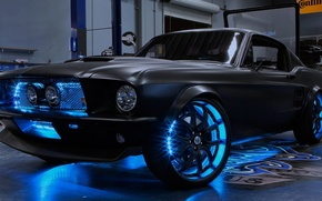 Picture neon, Mustang, workshop, Shelby
