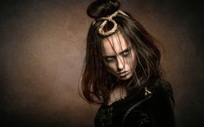 Picture girl, portrait, makeup, Joachim Bergauer, Dark Time