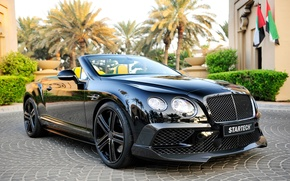Picture black, Bentley, Continental, convertible, Bentley, continental, Startech