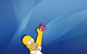 Wallpaper Apple, Apple, the simpsons, Homer