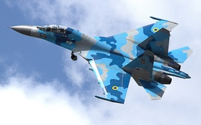 Picture Su-27, flight, fighter, Flanker, multipurpose