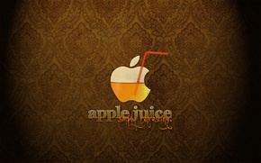 Wallpaper juice, Apple, logo, tube