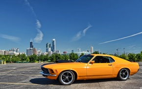 Picture Mustang, Ford, Ford, Mustang, classic, 1970, Muscle car