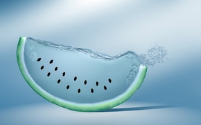 Picture water, creative, watermelon, seeds, watermelon