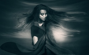 Picture girl, hair, portrait, Joachim Bergauer, In the Air