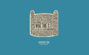 Picture adventure time, finn, what is time
