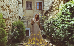 Picture girl, face, style, dress