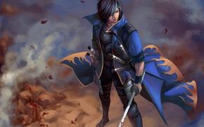 Picture katana, samurai, anime, Dante, Asanuma