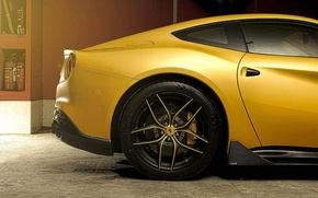 Picture ferrari, dmc, f12, berlinetta, yellow gold