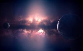 Wallpaper planet, glow