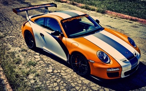 Wallpaper GT3, Porsche, orange, orange, 911, Porsche
