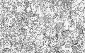 Picture paper, pattern, China, black and white, dragons