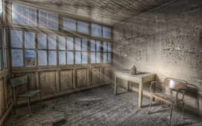 Picture style, rendering, creative, background, widescreen, Wallpaper, furniture, art, devastation, wallpaper, abandoned house, rays of light, …