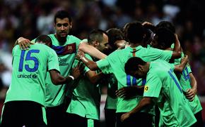 Wallpaper Football, Players, Sport, The game, FC Barcelona, Joy