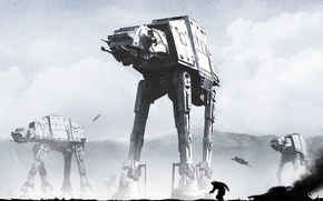 Picture robot, star wars, art, walker, The Empire Strikes Back, Star Wars: Episode V - The …