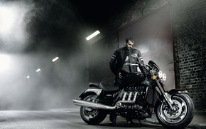 Wallpaper power, Triumph Rocket 3, chopper